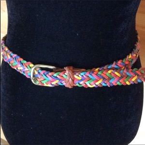 Capezio braided leather belt Multicolor M / L